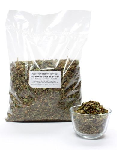 Kräuterbad Weißdornblüten/blätter 250 g